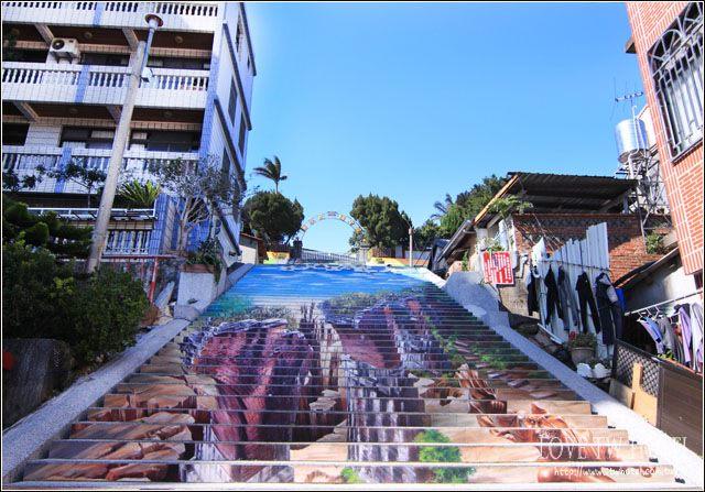 【苗栗景點】三義建中國小階梯3D彩繪 @ 3D彩繪階梯搶站龍騰斷橋超吸睛